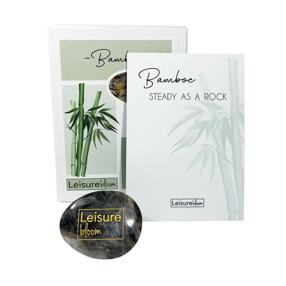 bamboe worry stone